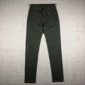 Carmar Skinny High Rise Jeans Olive Green